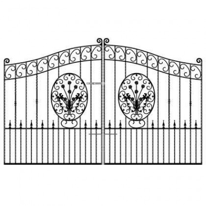 Blenheim 6' (1.83m) Wrought Iron Estate Gates