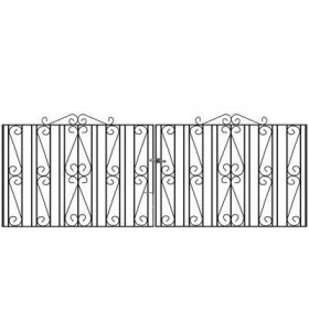 Buckingham 3' (92cm) Wrought Iron Drive Gates