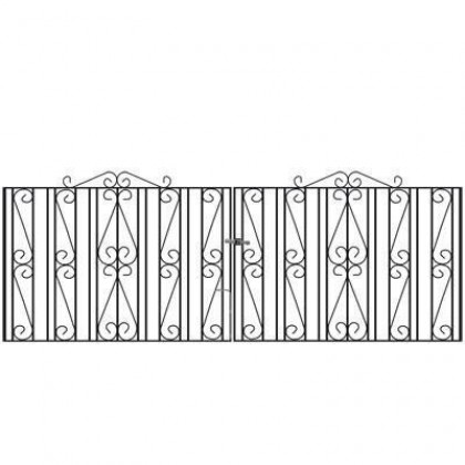 Buckingham 3' (92cm) Wrought Iron Drive Gates