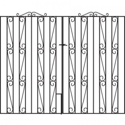 Clifton 6' (1.83m) Wrought Iron Estate Gates