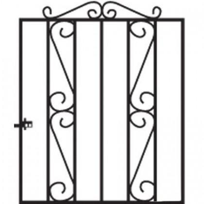 Clifton 3' (92cm) Wrought Iron Garden Gate