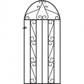 Clifton 6' (1.83m) Wrought Iron Arched Side Gate