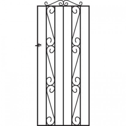 Clifton 6' (1.83m) Wrought Iron Side Gate