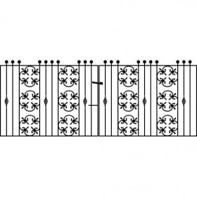 cromwellian 3' (92cm) Wrought Iron Drive Gates