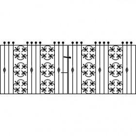 cromwellian 3' (92cm) Wrought Iron Drive Gates