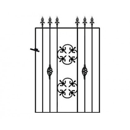 Cromwellian 3' (92cm) Wrought Iron Garden Gate