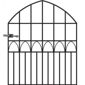 Gothic 4' (1.22m) Wrought Iron Garden Gate