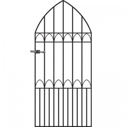 Gothic 6' (1.83cm) Wrought Iron Side Gates