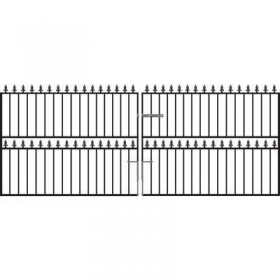 Hampton 4' (1.22m) Wrought Iron Driveway Gates