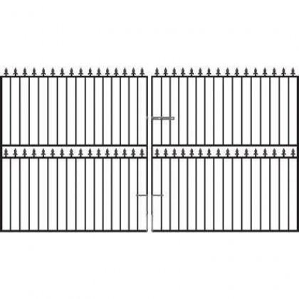 Warwick 6' (1.83m) Wrought Iron Estate Gates