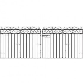 Marlborough 3' (92cm) Folding Wrought Iron Drive Gates