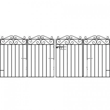 Marlborough 3' (92cm) Folding Wrought Iron Drive Gates