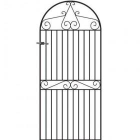 Marlborough 6' (1.83m) Wrought Iron Arched Side Gate