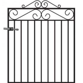 Marlborough 3' (92cm) Wrought Iron Garden Gate