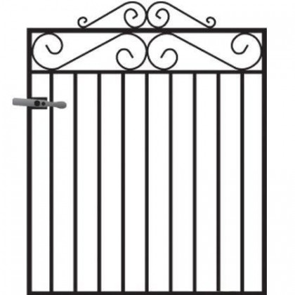 Marlborough 3' (92cm) Wrought Iron Garden Gate