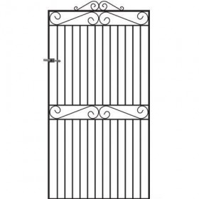 Marlborough 6' (1.83m) Wrought Iron Side Gate