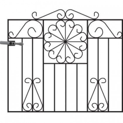 Regent 3' (92cm) Wrought Iron Garden Gate