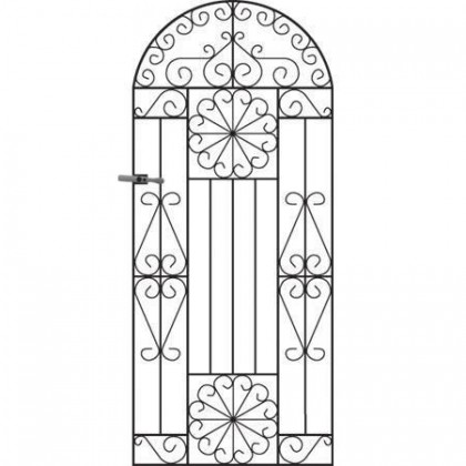 Regent 6' (1.83m) Wrought Iron Arched Side Gate
