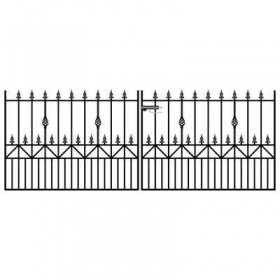 Royal Ascot 4' (1.22m) Wrought Iron Driveway Gates