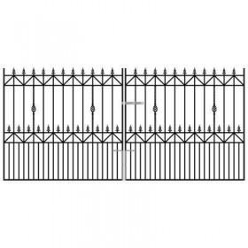 Royal Ascot 6' (1.83m) Wrought Iron Estate Gates