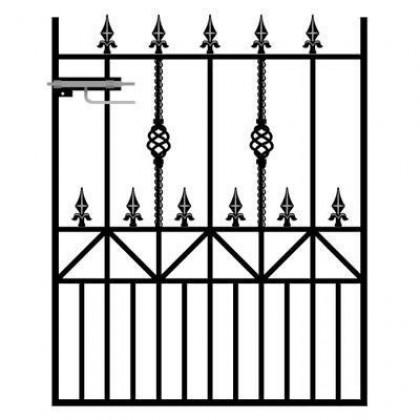 Royal Ascot 4' (1.22m) Wrought Iron Garden Gate