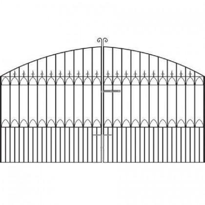 Royal Gothic 7' (2.13m) Wrought Iron Estate Gates