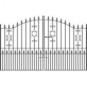 Royal Sterling 7' (2.13m) Wrought Iron Estate Gates