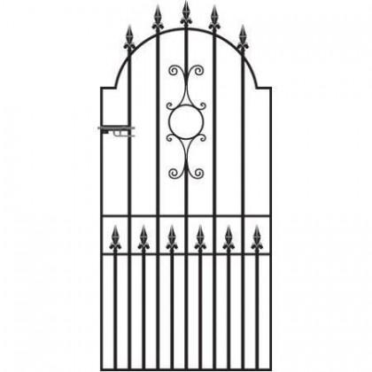 "Royal Grange 6' 6"" (1.98m) Wrought Iron Side Gate"