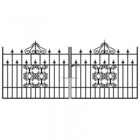 Royal Monarch 4' (1.22m) Wrought Iron Driveway Gates