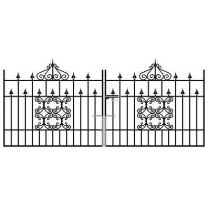 Royal Monarch 4' (1.22m) Wrought Iron Driveway Gates