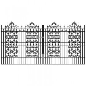 Royal Windsor 6' (1.83m) Wrought Iron Estate Gates