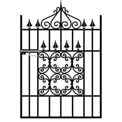 Royal Windsor4' (1.22m) Wrought Iron Garden Gates