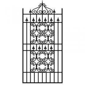 Royal Monarch 6' (1.83m) Wrought Iron Side Gate