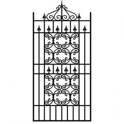 Royal Monarch 6' (1.83m) Wrought Iron Side Gate