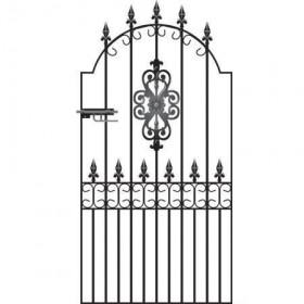 "Royal Premier 6' 6"" (1.98m) Wrought Iron Side Gate"