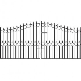 Royal Victoria 6' (1.83m) Wrought Iron Arched Estate Gates