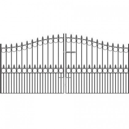Royal Victoria 7' (2.13m) Wrought Iron Arched Estate Gates