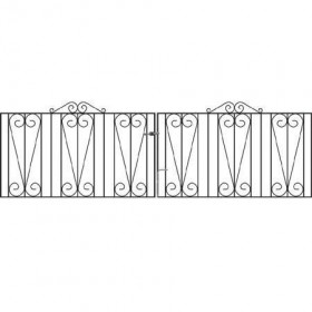 Westminster 3' (92cm) Wrought Iron Driveway Gates