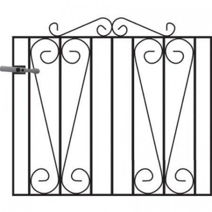 Melrose3' (92cm) Wrought Iron Garden Gate