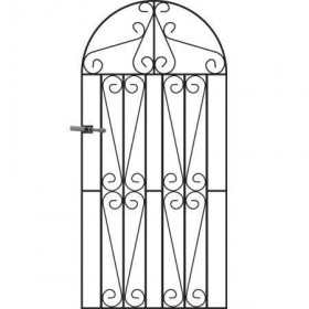 Westminster 6' (1.83m) Wrought Iron Arched Side Gate