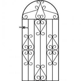Winchester 6' (1.83m) Wrought Iron Arched Side Gate