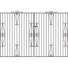 Hampton 6' (1.83m) Wrought Iron Estate Gates
