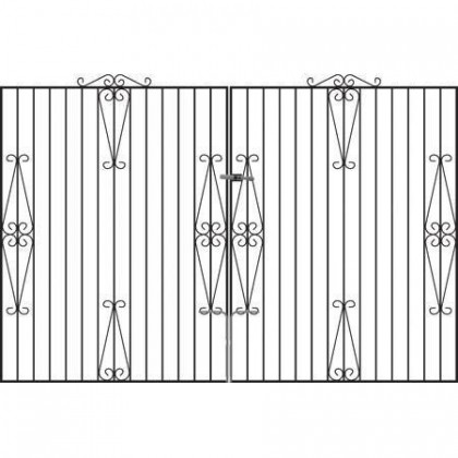 Hampton 6' (1.83m) Wrought Iron Estate Gates
