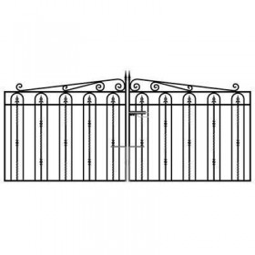 Windsor 4' (1.22m) Wrought Iron Drive Gates