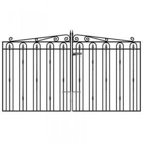 Windsor 6' (1.83m) Wrought Iron Estate Gates