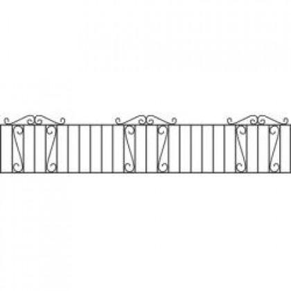 "Clifton Wrought Iron Railings 18"" (46cm) high"