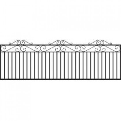 "Marlborough Wrought Iron Railings 18"" (46cm) high"