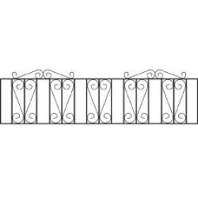"Westminster Wrought Iron Railings 18"" (46cm) high"
