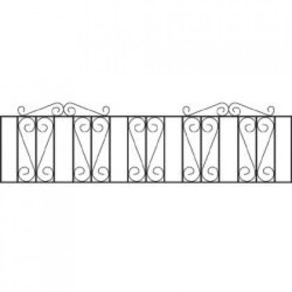 """Westminster Wrought Iron Railings 18"""" (46cm) high"""